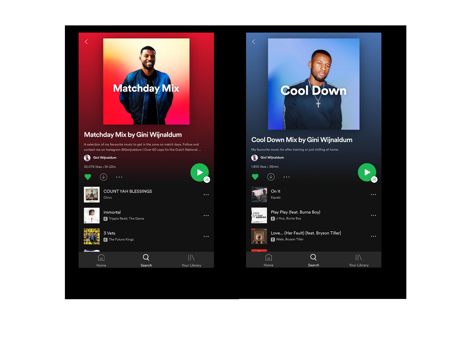 Gini Wijnaldum Spotify Playlists