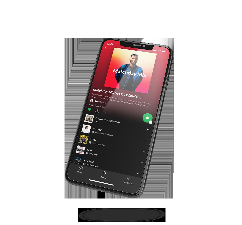 Gini Wijnaldum Spotify Matchday Playlist